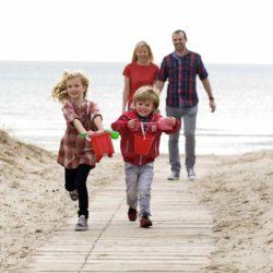 Family fun at Curracloe Beach; Wexford
